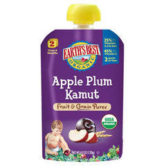 EARTH'S BEST ORGANIC APPLE PLUM KAMUT FRUIT & GRAIN PUREE