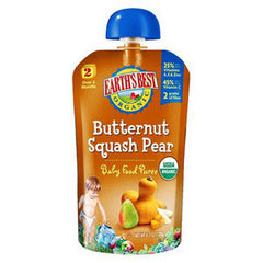 EARTH'S BEST ORGANIC BUTTERNUT SQUASH PEAR BABY FOOD PUREE