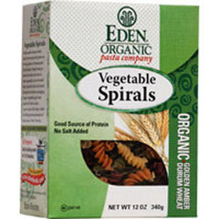 EDEN FOODS     ORGANIC VEGETABLE SPIRALS PASTA