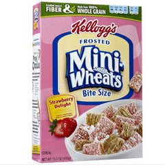 KELLOGG'S FROSTED MINI WHEATS BITE SIZE STRAWBERRY DELIGHT