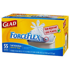 GLAD FORCEFLEX TALL KITCHEN QUICK-TIE BAGS - 13 GALLONS