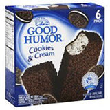 GOOD HUMOR COOKIES & CREAM ICE CREAM BARS