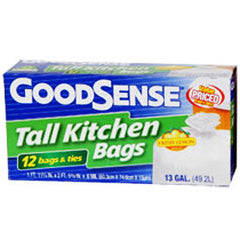 GOODSENSE DRAWSTRING TALL KITCHEN BAGS FRESH LEMON SCENT - 13 GALLONS