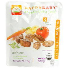 HAPPYBABY #3 ORGANIC BEEF STEW BABY FOOD