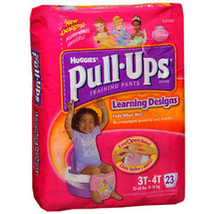 HUGGIES PULL-UPS TRAINING PANTS FOR GIRLS 3T-4T
