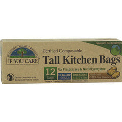 IF YOU CARE TALL KITCHEN BAGS CERTIFIED 97% RECYCLED BAGS - 13 GALLONS