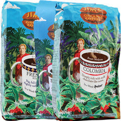 JIM'S ORGANIC  COLOMBIAN COFFEE - WHOLE BEAN