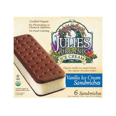 JULIE'S ORGANIC VANILLA ICE CREAM SANDWICHES