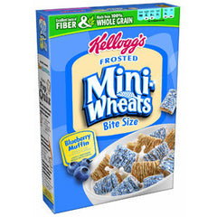 KELLOGG'S FROSTED MINI WHEATS BITE SIZE BLUEBERRY MUFFIN