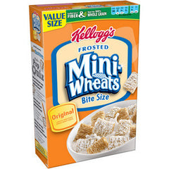 KELLOGG'S FROSTED MINI WHEAT BITE SIZE ORIGINAL CEREAL