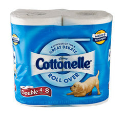 KLEENEX COTTONELLE DOUBLE ROLL 4 PACK