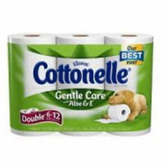 KLEENEX COTTONELLE GENTLE CARE WITH ALOE & E - 6 DOUBLE ROLLS