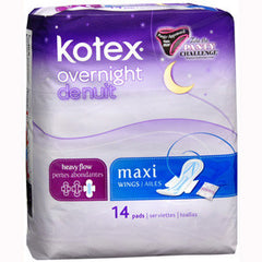 KOTEX OVERNIGHT WITH WINGS