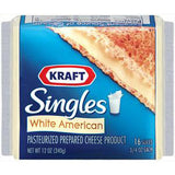 KRAFT WHITE AMERICAN SINGLE CHEESE