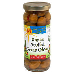 MEDITERRANEAN ORGANIC STUFFED GREEN OLIVES RED PEPPER