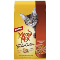 MEOW MIX TENDER CENTER SALMON & WHITE MEAT CHICKEN FLAVOR