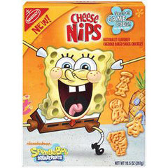 NABISCO CHEESE NIPS SPONGE BOB - SNACK CRACKERS