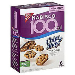 NABISCO 100 CALORIE CHIPS AHOY THIN CRISPS