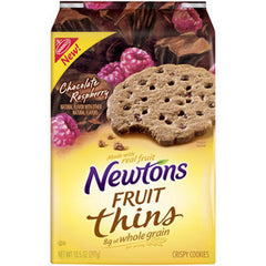 NABISCO NEWTONS FRUIT THINS CHOCOLATE RASPBERRY - CRISPY COOKIES
