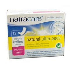 NATRACARE ORGANIC COTTON COVER NATURAL ULTRA PADS - SUPER