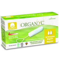 ORGANYC TAMPONS REGULAR - 16 PACK