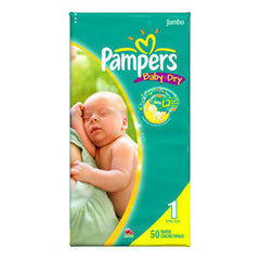 PAMPERS BABY DRY DIAPERS #1