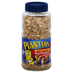 PLANTERS PEANUTS DRY ROASTED LIGHTLY SALTED