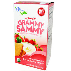 PLUM KIDS ORGANIC GRAMMY SAMMY HONEY GRAHAM & STRAWBERRY YOGURT