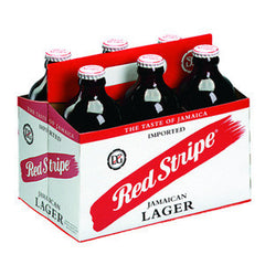 RED STRIPE JAMAICAN LAGER - 6 PACK - 12 FL OZ EACH BOTTLE