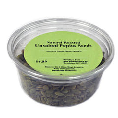 BROOKLYN FARE NATURAL ROASTED UNSALTED PEPITA SEEDS