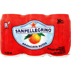 SANPELLEGRINO  SPARKLING WATER 6 PACK CANS