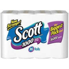 SCOTT BATHROOM TISSUE 36 ROLLS