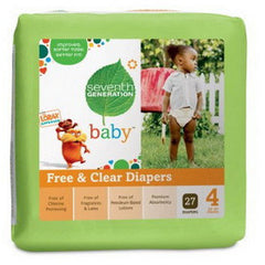 SEVENTH GENERATION FREE CLEAR BABY DIAPERS # 4