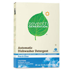 SEVENTH GENERATION FREE & CLEAN  DISHWASHER DETERGGENT