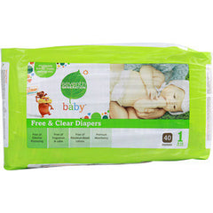 SEVENTH GENERATION FREE & CLEAR DIAPER # 1