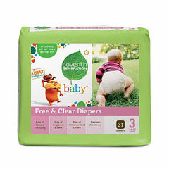 SEVENTH GENERATION FREE & CLEAR DIAPERS # 3