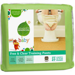 SEVENTH GENERATION FREE & CLEAR BABY TRAINING PANTS 3T & 4T