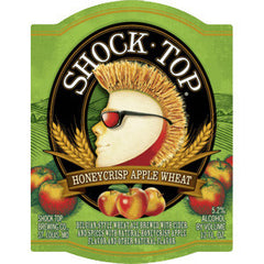 SHOCK TOP HONEYCRISP APPLE WHEAT BEER - 4 PACK - 16 FL OZ EACH CAN
