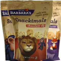 BARBARA'S SNACKIMAL CHOCOLATE CHIPS  COOKIES - MADE WITH ORGANIC GRAINS