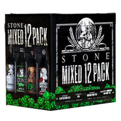 STONE BREWING CO MIXED 12 PACK - 12 FL OZ EACH BOTTLE