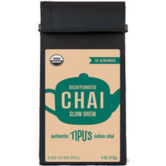 TIPU'S CHAI DECAFFEINATED SLOW BREW BLACK TEA AND SPICES - ORGANIC