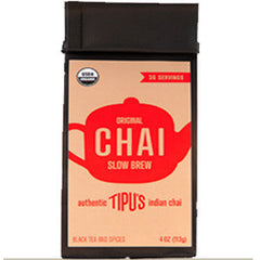 TIPU'S ORIGINAL CHAI SLOW BREW BLACK TEA AND SPICES - ORGANIC