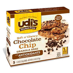 UDI'S SOFT N' CHEWY CHOCOLATE CHIP GRANOLA BARS WITH ANTIOXIDANTS