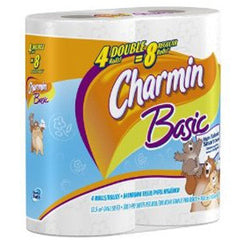 CHARMIN ULTRA SOFT 4 PACK - 4 DOUBLE = 8 REGULAR ROLLS