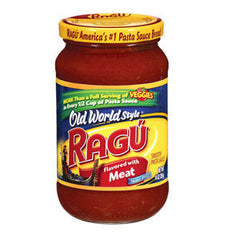 RAGU SPAGHETTI SAUCE WITH MEAT SAUCE