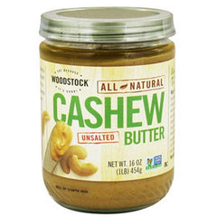 WOODSTOCK ALL NATURAL UNSALTED CASHEW BUTTER