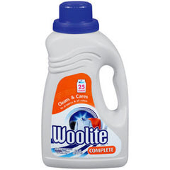 WOOLITE CLEANS & CARES COMPLETE FOR ALL FABRICS & ALL COLORS