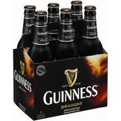 GUINNESS DRAUGHT BEER - 6 PACK - 12 FL OZ EACH BOTTLE