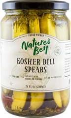 NATURES BEST KOSHER DILL SPEARS