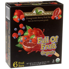 NATURAL CHOICE FULL OF FRUIT ORGANIC POMEGRANATE BERRY FRUIT BARS